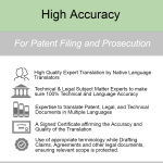 High Accuracy Patent Translation