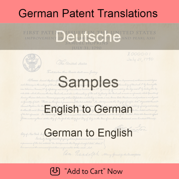 Samples – German Patent Translations
