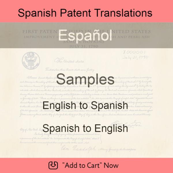 Samples – Spanish Patent Translations