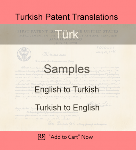 Samples – Turkish Patent Translations