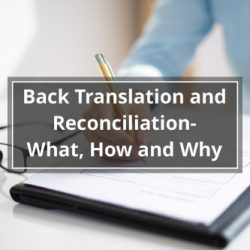 Back Translation and Reconciliation