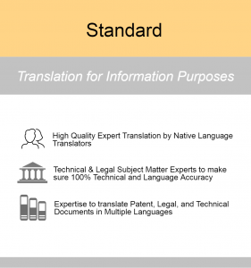 Standard Patent Translation