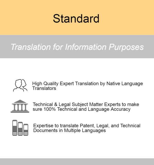 Standard Patent Translation