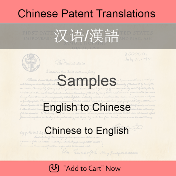 Samples – Chinese Patent Translation