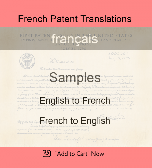 Samples – French Patent Translations