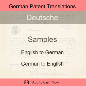 Samples – German Patent Translations