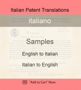 Samples – Italian Patent Translations