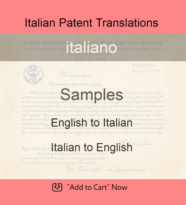 Samples – Italian Patent Translations