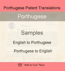 Samples – Porthugese Patent Translations