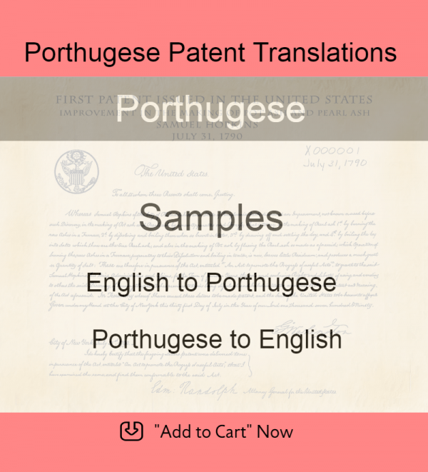 Samples – Porthugese Patent Translations