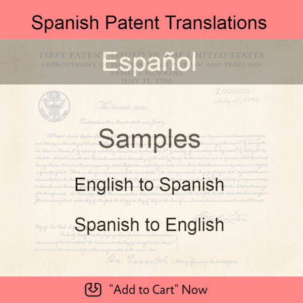 Samples – Spanish Patent Translations