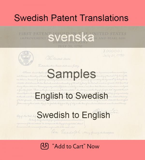 Samples – Swedish Patent Translations