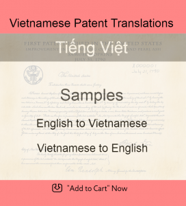 Samples – Vietnamese Patent Translations