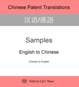 Samples - Chinese Patent Translation