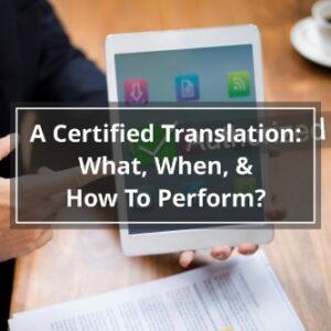 A Certified Translation